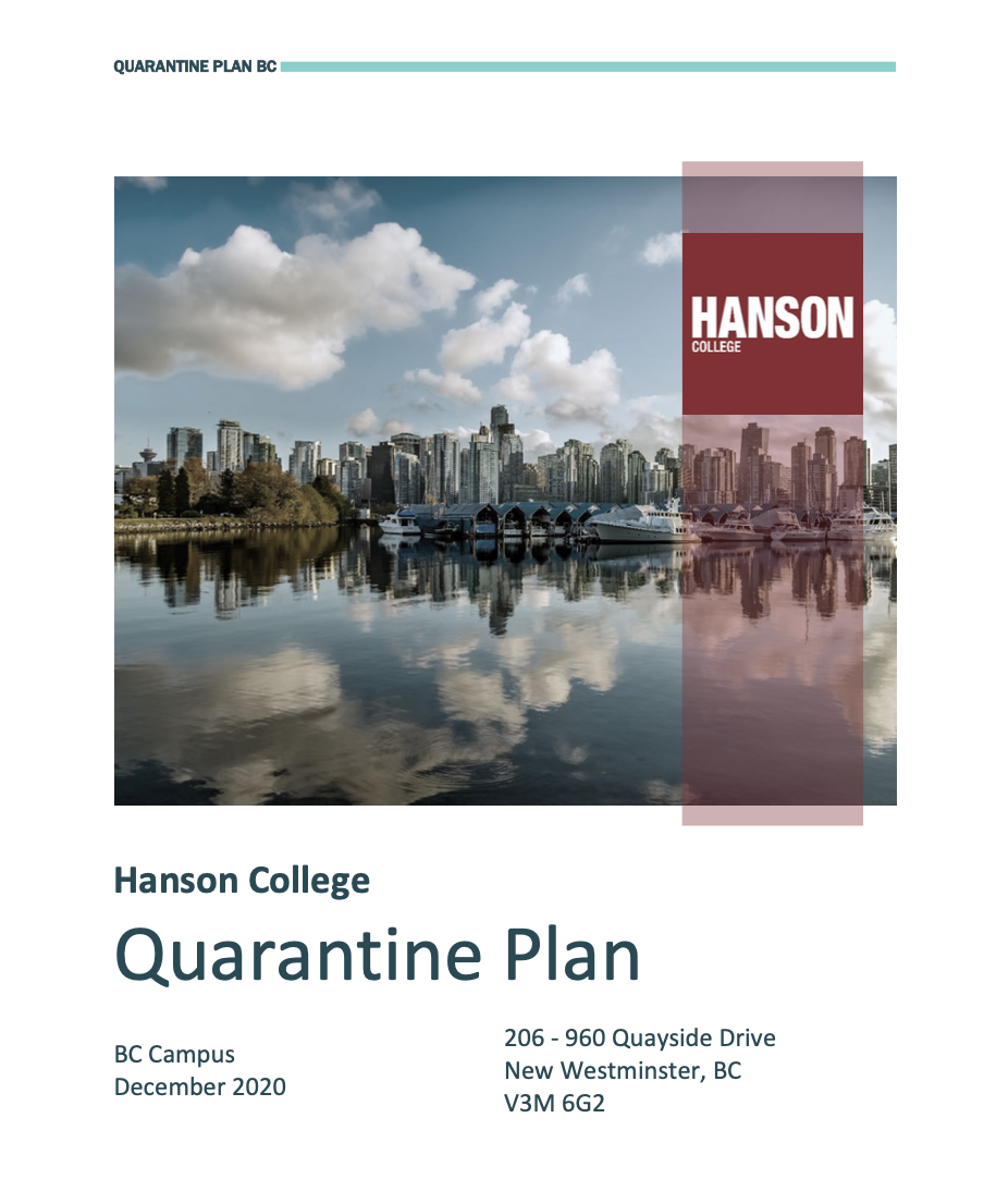 Hanson College BC COVID-19 Readiness Plan