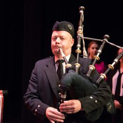 Man playing the bagpipe